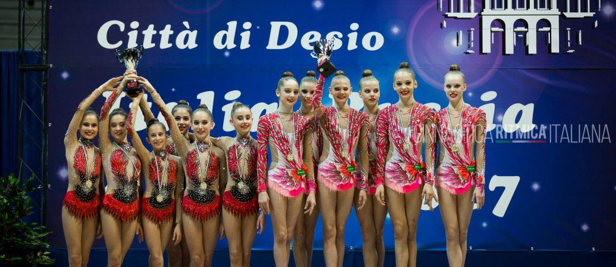 Il podio delle squadre junior