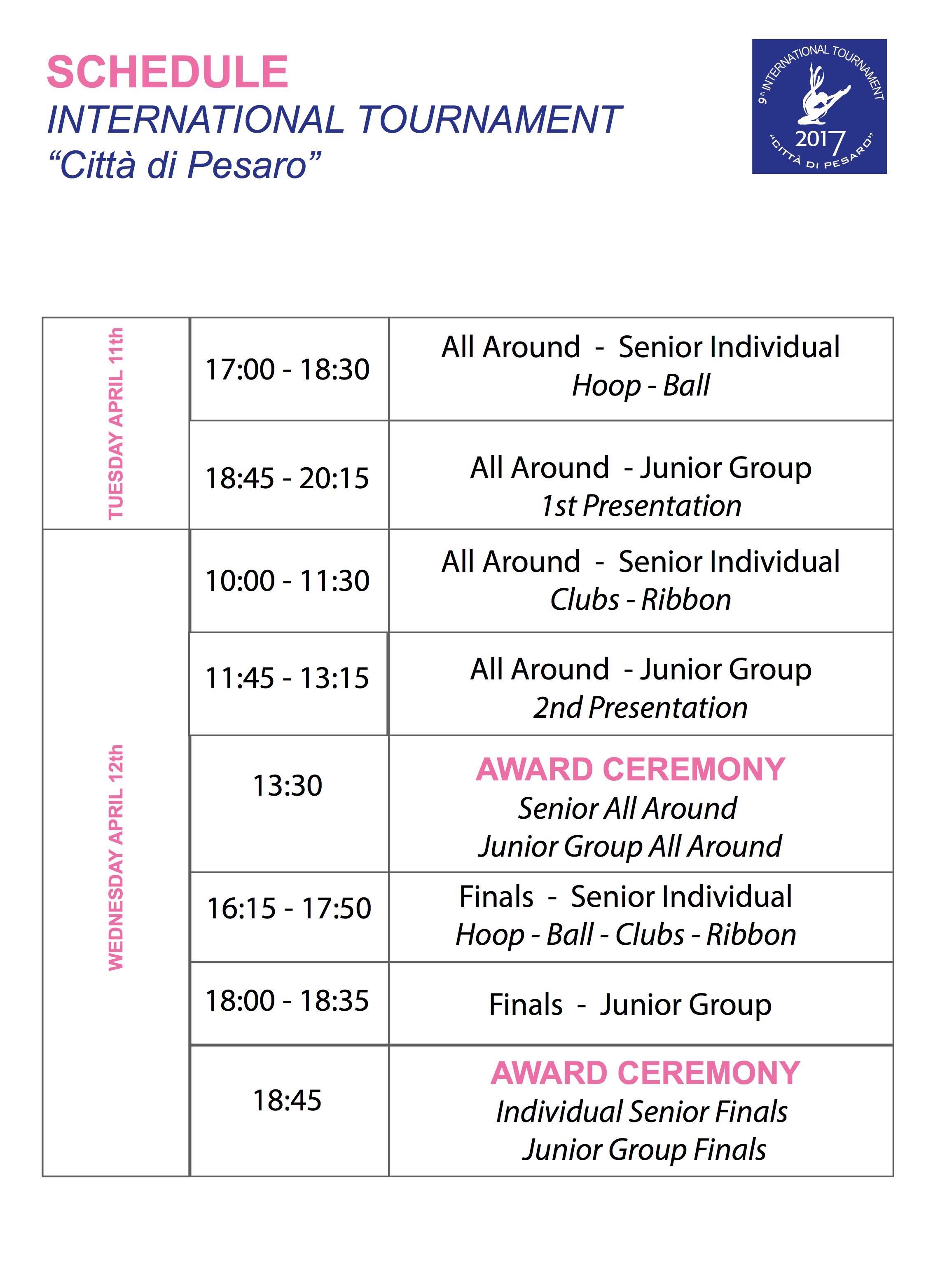 programma torneo internazionale